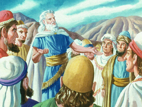 When Moses came back and told the Israelites what God had said the people promised all that the Lord has spoken we will do. – Slide 10