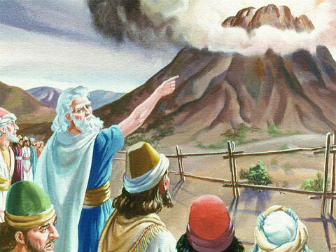 What a sight there was before them. The mountains smoked like a great Furness. It quaked and trembled in a frightening way. The Lord descended upon it in fire – Slide 18