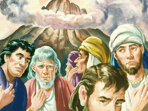 As they heard God's voice and the words He spoke, the people began to act strangely. – Slide 31