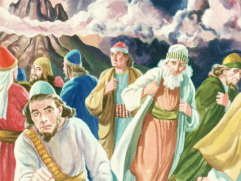Would they be destroyed by the fire and thunder in the smoking, quaking mountain? – Slide 32