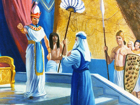 Finally the King had had enough; he called for Moses and told him to take the children of Israel and get out of Egypt and stay out. – Slide 9