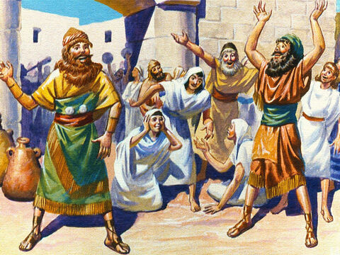 That was a happy day for the children of Israel. They were free at last. God had heard their prayers. – Slide 10
