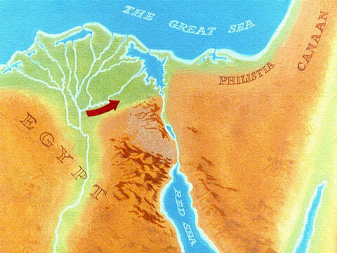 Up until now the Israelites had been headed directly to the land of Canaan and if they went on that way they would soon come into the land of the Philistine and that would mean just one thing: war. – Slide 17