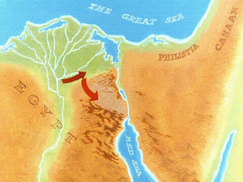 The Lord wanted them to turn south towards the Red Sea. – Slide 19