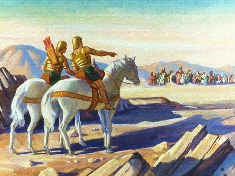 Pharaoh had spies watching and of course they were ready to report every move the children of Israel made. – Slide 21