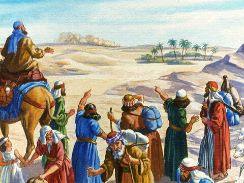 The Egyptians raised up quite a dust and when the Israelites saw the dust clouds far in the distance they knew right away what that meant. The Egyptians were coming after them. – Slide 26