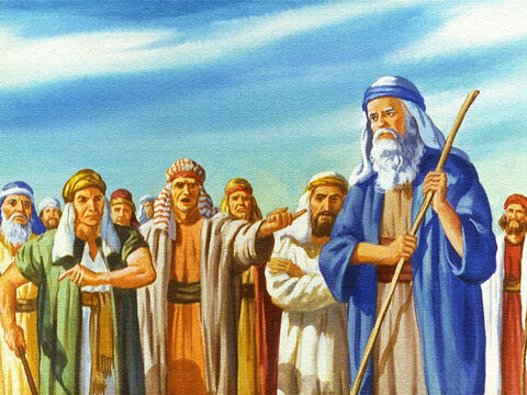 The people of Israel were afraid and they were angry with Moses for having brought them out into the Wilderness. They forgot that God was with them. – Slide 27