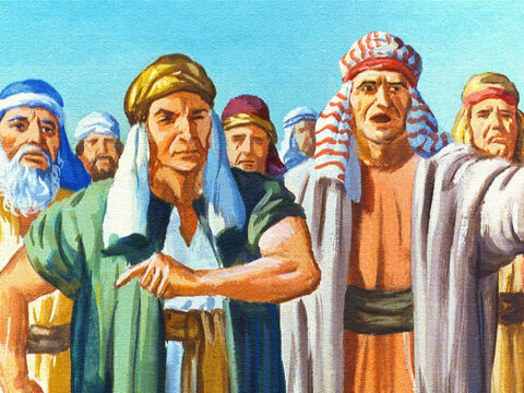 The children of Israel cried out to Moses that they would rather have stayed in Egypt as slaves than to be slain out here in the desert by the Egyptian army. – Slide 28