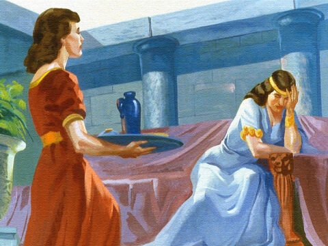 Even the servants felt sorry for Naaman and his wife, and one of the servants in particular wondered if she could help. – Slide 5