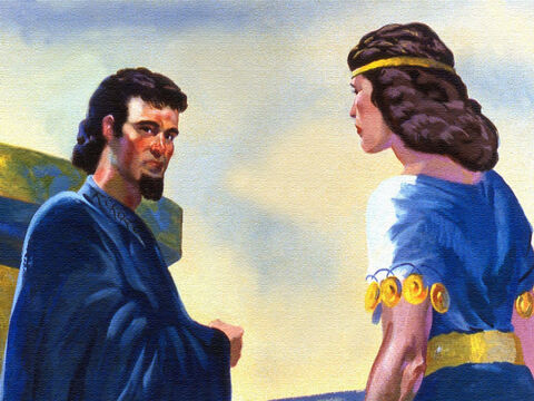 So Naaman agreed with his wife that he would have to go and try to find the prophet. – Slide 13