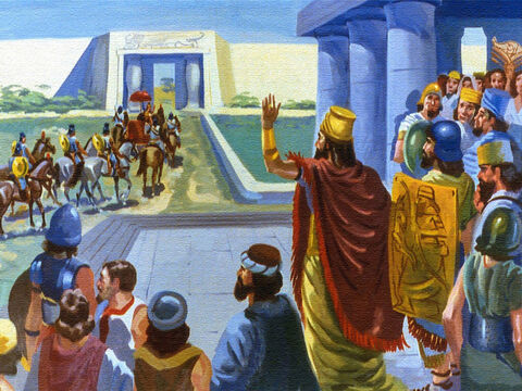 Then he set him off on the journey south into Israel with wishes for a speedy recovery. – Slide 19