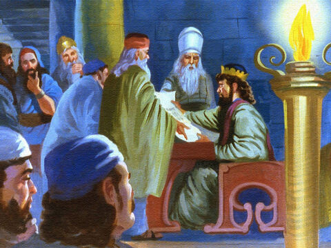 The wise men of the kingdom wondered what to do. But because the letter had failed to mention the prophet Elisha, and because the king and his advisors were not right with God, they did not have an answer. – Slide 28
