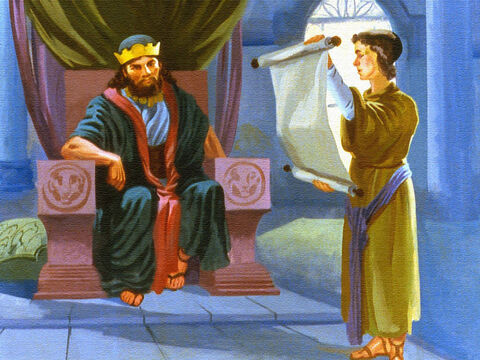 Elisha had heard about Naaman's visit to the king. The message was a request that Naaman be sent to Elisha so that the Syrians would know there was a true and a living God. – Slide 32