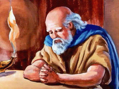 But inside the house, Elisha did not come to the door but gave his servant a message for Naaman. – Slide 39
