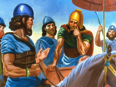They reminded their leader that had he been told to do a difficult thing, he undoubtedly would have tried to do it. Why not do as the servant had said? Naaman knew in his heart that his men were right. If he was going to be helped by God, he must be willing to believe and obey. – Slide 44