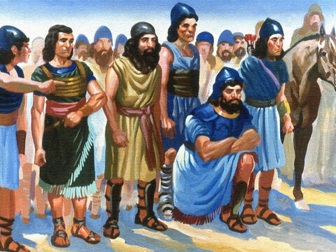 His men watched from the river bank. What was going to happen? – Slide 47