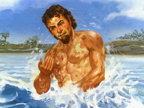 Six times Naaman went down into the water and his body remained the same. – Slide 48