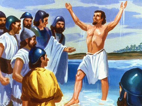 Naaman was overcome with joy. In spite of the weakness of his faith, God had healed his body! – Slide 51