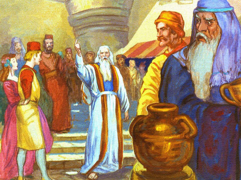 Noah did as God had told him to do. He told the people what God had said and pleaded with them to get on their knees and ask for God's forgiveness. – Slide 9