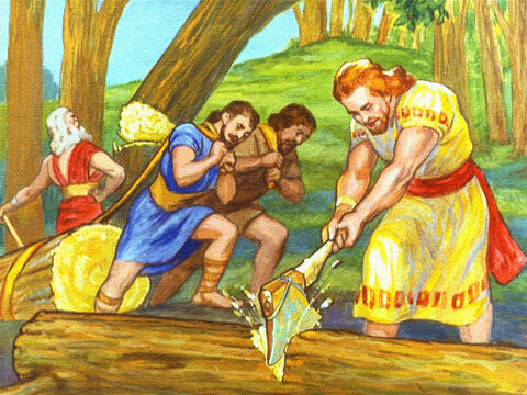 Since Noah and his sons believed in God, they lost no time in doing what they had been told. – Slide 15