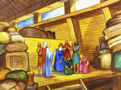 All this time Noah and his family simply waited on the Lord. – Slide 28