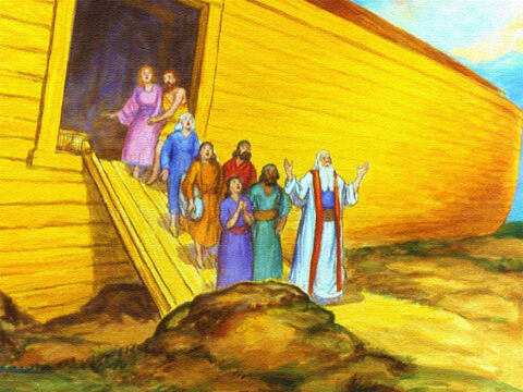 Sure enough, shortly after that God told Noah to take his family … – Slide 44