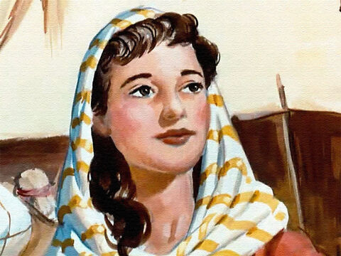 Long ago there lived in the land of Israel a young woman named Hannah. – Slide 1