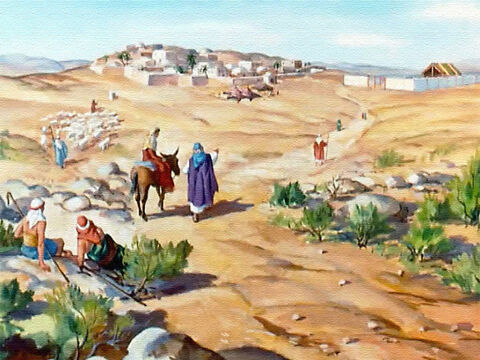 Each year Hannah and her husband made a journey to a place called Shiloh to worship God at the Tabernacle. – Slide 6