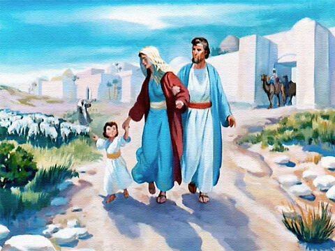 As soon as he was big enough to go away from home, Samuel was taken to Shiloh just as his mother had promised. – Slide 9