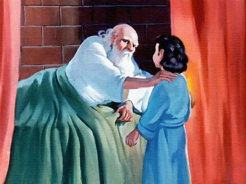 "Eli said, 'Go and lie down, but if you hear the voice again, say ""Speak, Lord, for your servant is listening.""' – Slide 25"