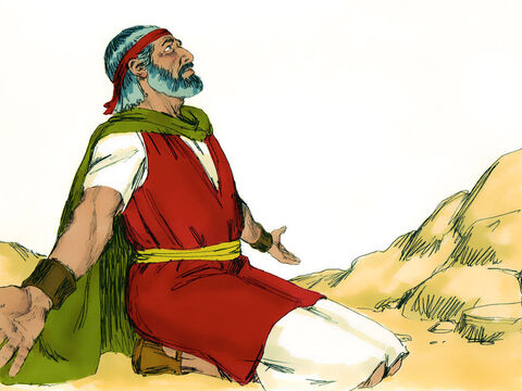 But as Moses got tired and lowered his hands ... – Slide 7