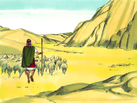 Exodus 3 Moses was looking after the flock of his father-in-law, Jethro. He led them to the far side of the wilderness to graze, by a mountain called Horeb. – Slide 1