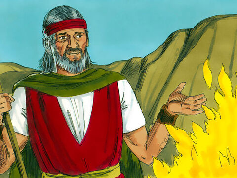 'Go to Pharaoh and bring my people out of Egypt', God instructed. Moses started making excuses. 'Who am I to do this?' – Slide 6