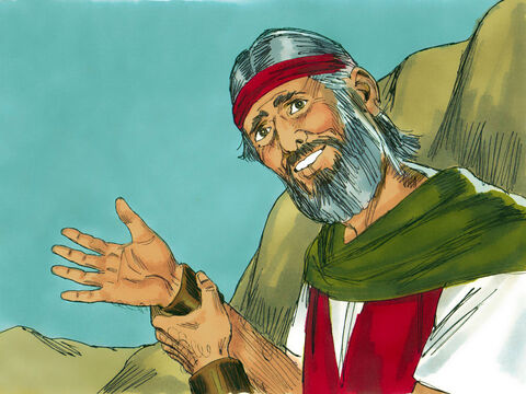 When Moses pulled his hand out from his cloak a second time his hand was healed. – Slide 16