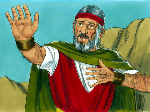 But Moses still kept making excuses. 'I find it hard to speak well or very clearly.' 'Who gave people their mouths?' replied the Lord. 'I will help you speak and teach you what to say.' – Slide 18