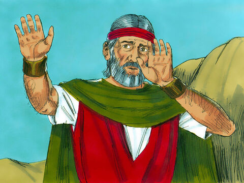 But Moses still made excuses. 'Please send someone else to do this.' – Slide 19