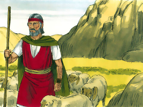 So Moses returned to his father-in law Jethro and asked his permission to return to his people in Egypt. 'Go, I wish you well,' replied Jethro. – Slide 21