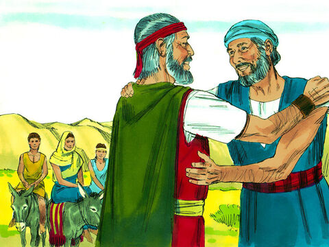 Moses shared with Aaron all that God had told him. Then they all set off for Egypt to tell the Hebrew leaders that God had plans to rescue them. – Slide 24