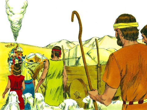 Exodus 15 v 22-27 The pillar of cloud led the people from the Red Sea into the desert of Shur. – Slide 1