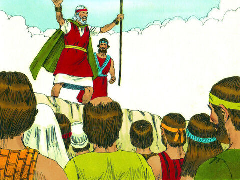 'If you listen and obey God,' Moses declared, 'He will keep you from any diseases He brought on the Egyptians. He is the Lord who heals you.' – Slide 8