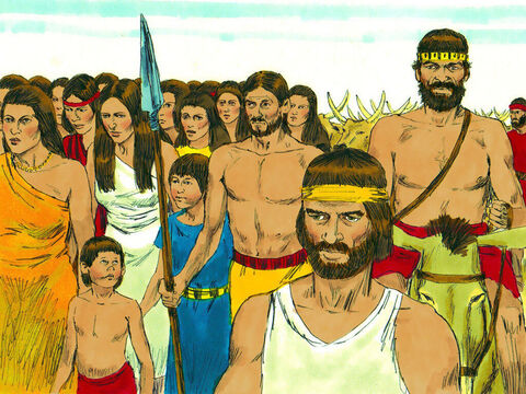 In the desert they became very hungry and started grumbling to Moses and Aaron. – Slide 12