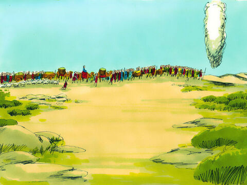 The Israelites travelled on towards mount Sinai. (They were to eat manna everyday for the 40 years they were wandering in the wilderness). – Slide 27