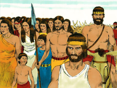 They came to Aaron and demanded, 'We don't know what has happened to Moses. Let us make gods to lead us.' – Slide 2