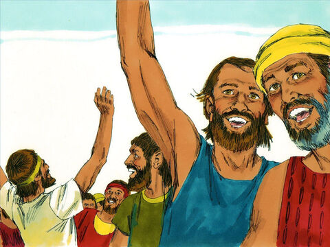 The people responded by declaring, 'These are our gods who brought us up out of Egypt.' – Slide 5