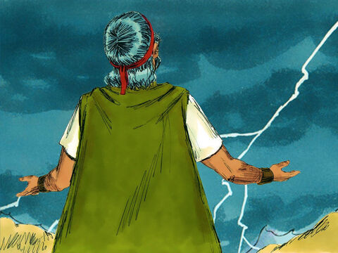 Moses pleaded with God not to destroy the people He had rescued from Egypt. He knew God had promised to make them into a great nation. – Slide 11