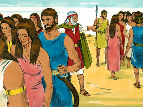 Moses stood at the entrance to the camp and said, 'Whoever is for the Lord, come to me.' – Slide 17