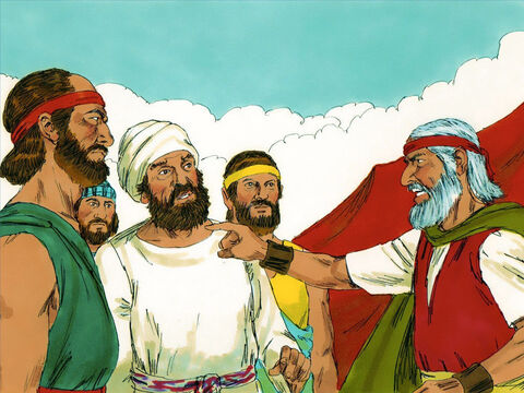 Those in a tribe called the Levites rallied to him. Moses told them to get their swords and carry out God's punishment on those who had disobeyed Him. – Slide 18