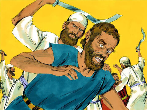The Levites carried out the order. Moses then told them, 'As you have shown your loyalty to God He has chosen you to serve Him.' – Slide 19