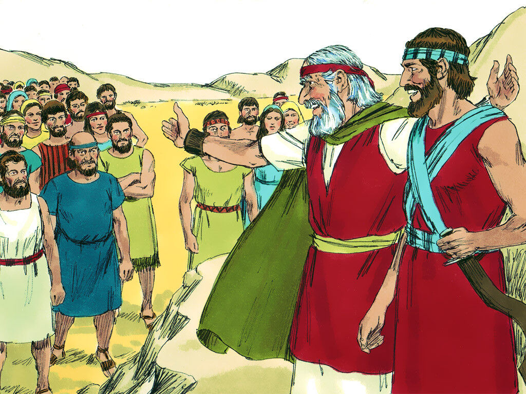 FreeBibleimages :: Moses dies and Joshua becomes leader ...