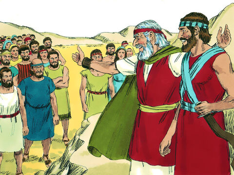 Moses then summoned Joshua and in front of everyone said, 'Be strong! Be courageous! – Slide 3